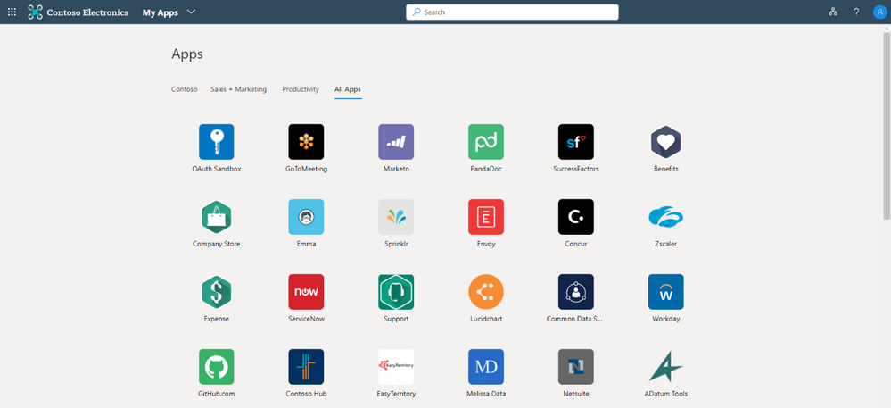 My Apps portal allows users to see what apps they have access to and the collections they're enrolled in.