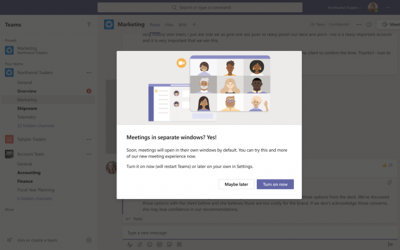 New Meeting and Calling Experience in Microsoft Teams in GCC