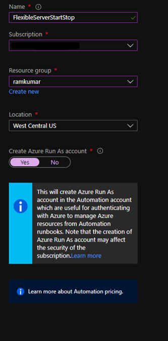 Auto start/stop Flexible Server using Azure Automation Python RunBook