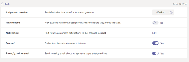 New Assignment Settings give educators more control.
