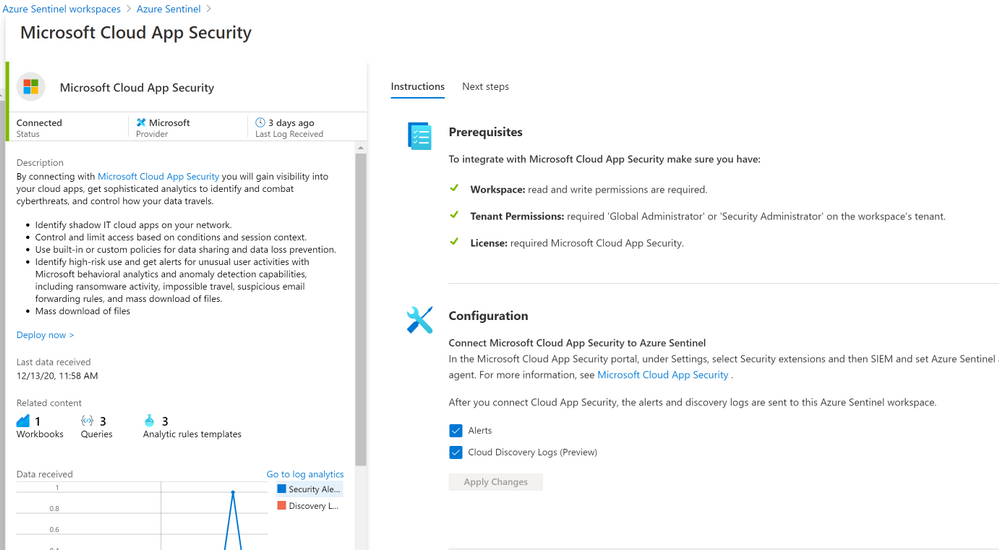 Microsoft Cloud App Security (MCAS) Activity Log in Azure Sentinel