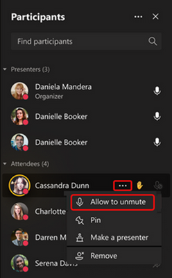 Educators can choose to mute all students during class and then allow specific students to unmute when they raise their hand.