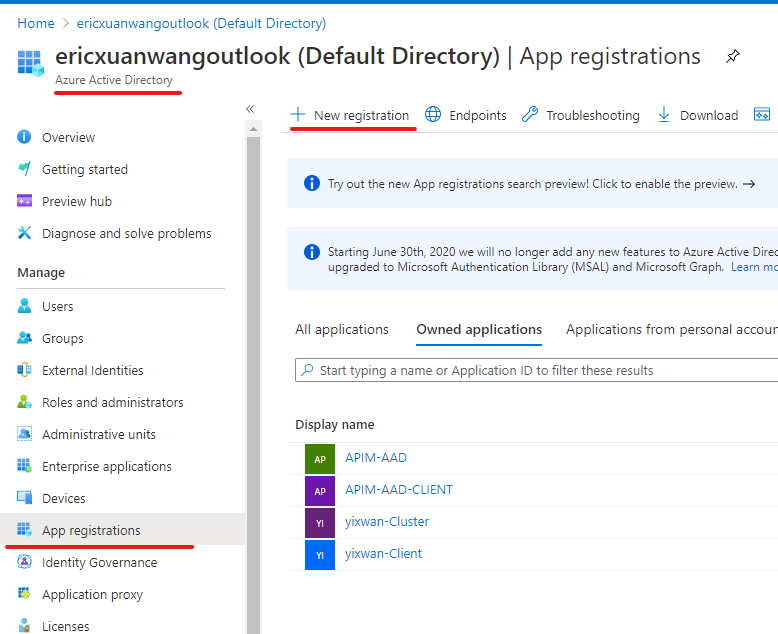 Use Azure Portal to enable AAD authentication for Service Fabric management endpoint