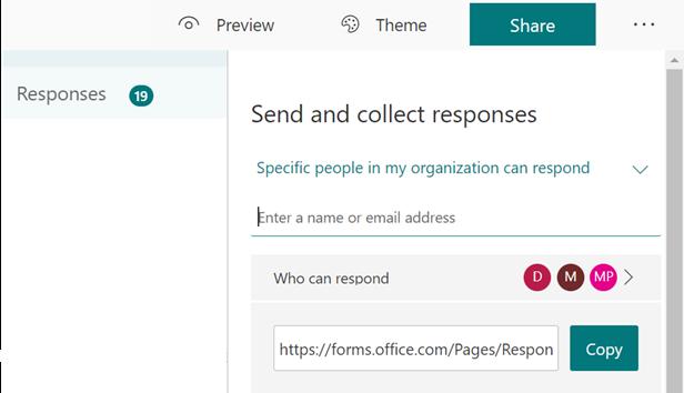 Specific People Can Respond - Desktop