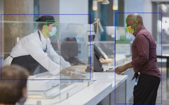 Face mask and Person detection with Spatial analysis