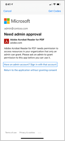 Adobe Acrobat Reader for PDF approval prompt