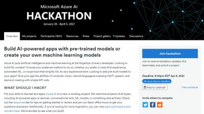 AI Hackathon homepage